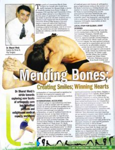 write up on dr mody- TOI welness guide issue-july'09