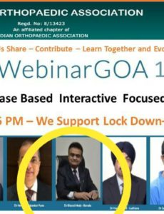 Dr Bharat Mody, along with other eminent orthopaedic surgeons of the country, teaches during the lockdown via 'webinars' !